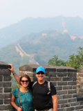Dr. Freedman with his daughter, Jessica, at the Great Wall