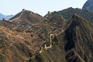 Mutianyu, a section of the Great Wall about 40 miles northeast of Beijing