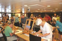 Hyder leading a workshop in Artist Loft, courtesy of Frank Hyder
