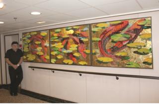 Variegated Float, Marina's Terrace Café corridor, courtesy of Frank Hyder