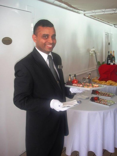 Anthony Serves Hors D'oeuvres