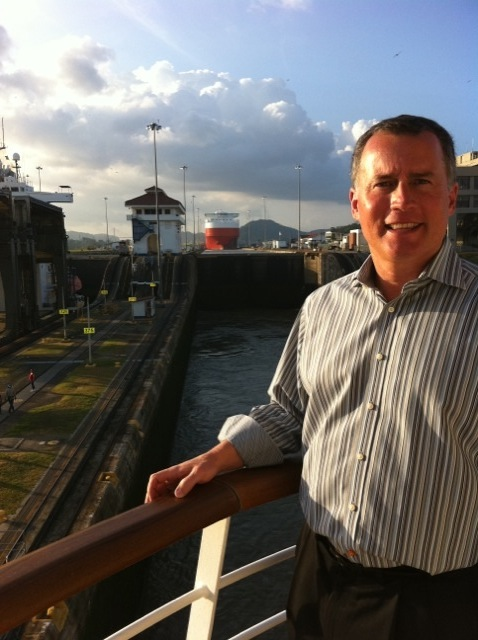 Bob at Panama Canal