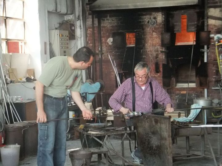 Two glass blowers