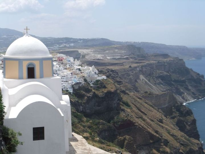 Santorini Dome and Cliff