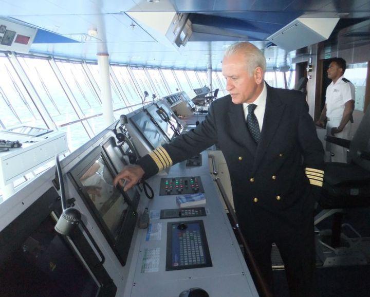 Captain Gives Bridge Tour