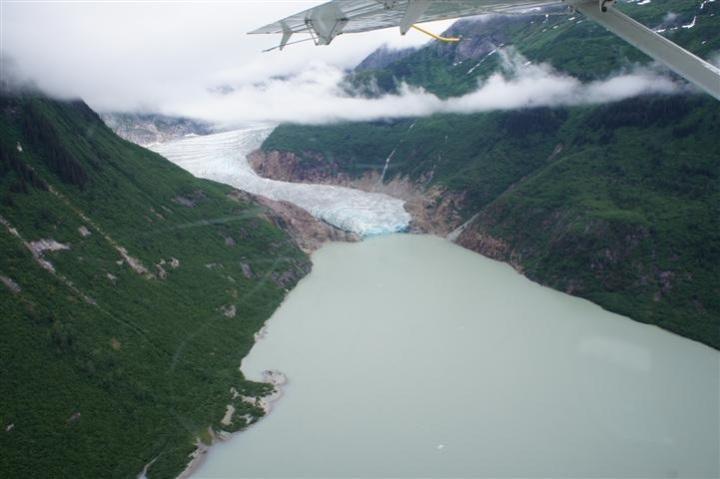 Aerial Glacier Runoff