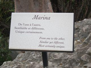 Marina Statue Sign
