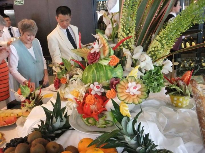 Buffet Fruit Sculpture