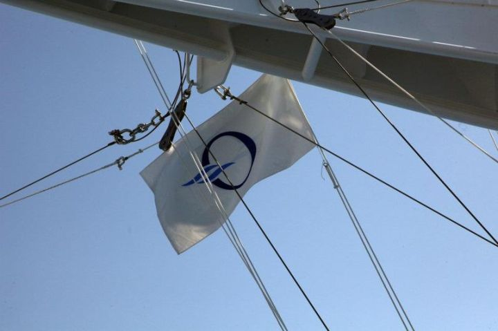 Oceania Cruises flag flies
