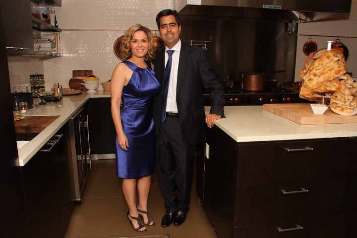 Chef Cora and Kunal Kamlani