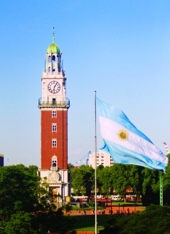 "The ""Torre de los Ingleses"" in Buenos Aires, Argentina"