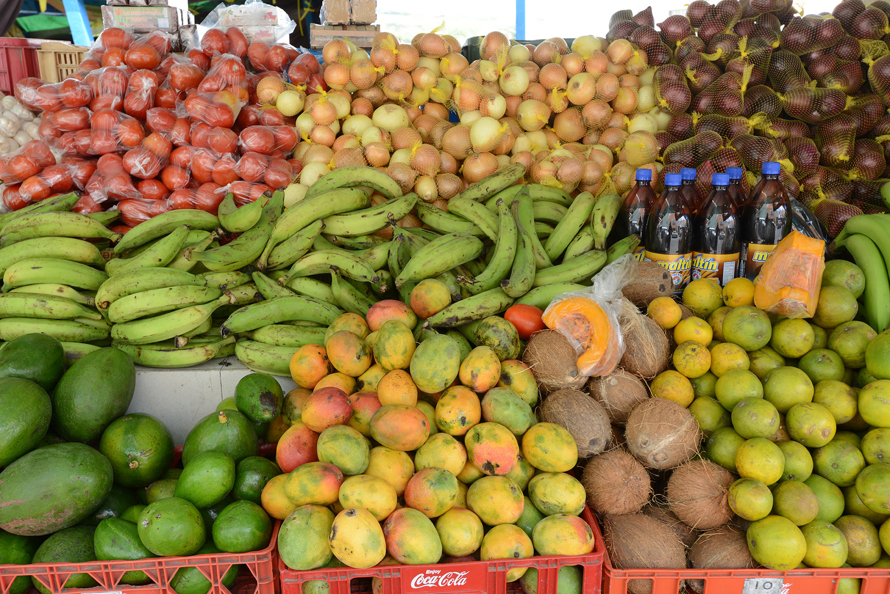 Fruit table at local market.